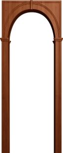 Палермо итальянский орех (арка универсальная ПВХ)