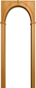 Палермо миланский орех (арка универсальная ПВХ)