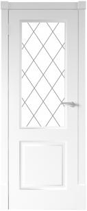 Финская дверь ПО цвет белый