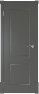 Финская дверь ПГ цвет графит