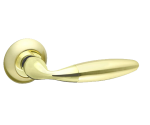 Ручка дверная  SONATA RM Матовое золото/золото (без запирания)