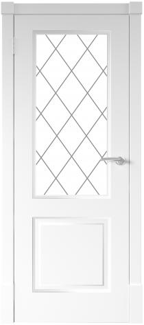 Межкомнатная дверь Финская дверь ПО цвет белый