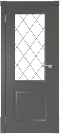 Межкомнатная дверь Финская дверь ПО цвет графит