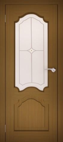 Межкомнатная дверь натуральный шпон ШО-1 Дуб тёмный