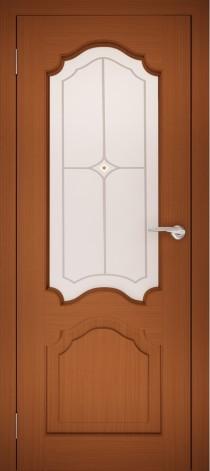 Межкомнатная дверь натуральный шпон ШО-1 Орех тёмный