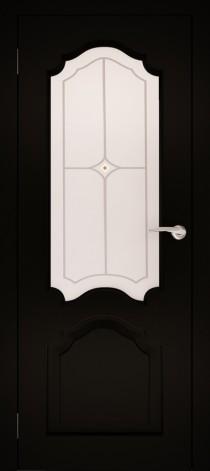 Межкомнатная дверь натуральный шпон ШО-1 Венге